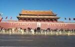 Kuvassa Taivaallisenrauhanaukio Pekingissä.